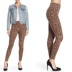 Love, Fire Leopard Print Skinny Leggings